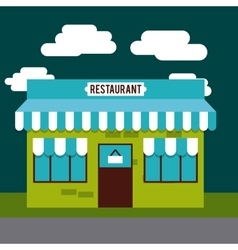 restaurant outside design vector image