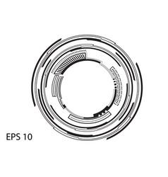 round logo on white background vector image