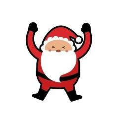santa merry christmas cartoon icon graphic vector image