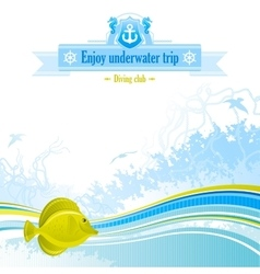 Sea background in blue colors with net foam vector
