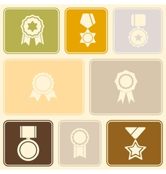 Seamless background with awards symbols vector image