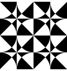 Seamless geometric op art design vector