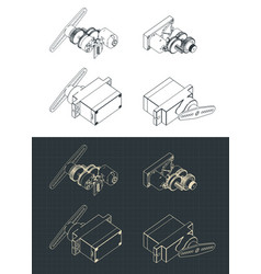 Servos drawings vector