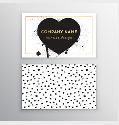 Set of business card templates with dots vector