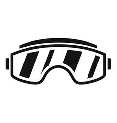 ski goggles icon simple style vector image