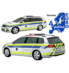 slovenia police car vector image