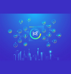 smart city and internet things vector image