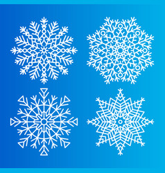 snowflakes icons set of different shape and forms vector image