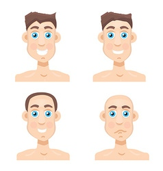 Stages Of Hair Loss new before and after vector