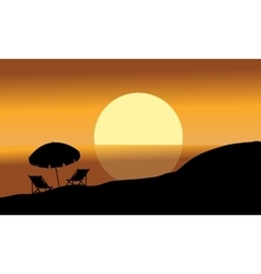 summer background silhouettes vector image
