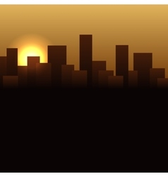 Sunrise Buildings Landscape Urban vector image