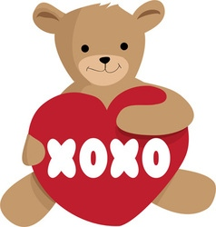 Teddy xoxo vector