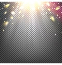 The golden confetti vector