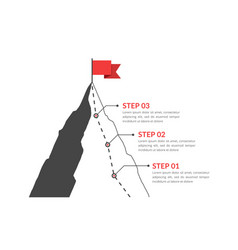 three steps to success vector image