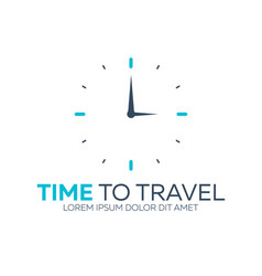 time to travel travel logo flat vector image
