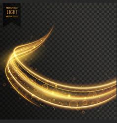 transparent golden light effect vector image