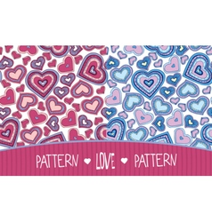 Two Love patterns pink and blue vector