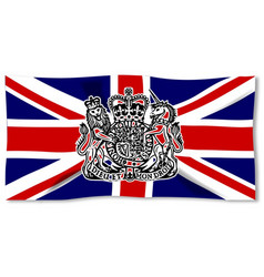 Union jack with uk seal vector
