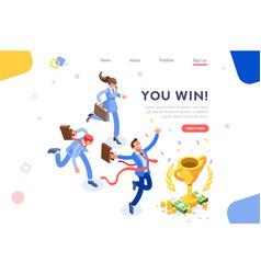 victory concept flat design vector image