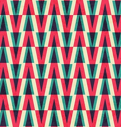 vintage triangle seamless pattern with paper vector image