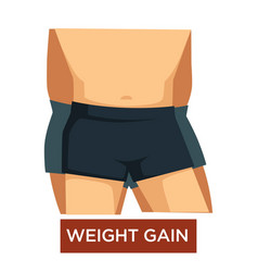 wait gain overeating overweight obesity isolated vector image