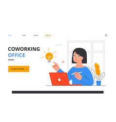 working at home concept coworking office vector image