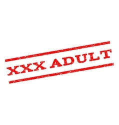 XXX Adult Watermark Stamp vector