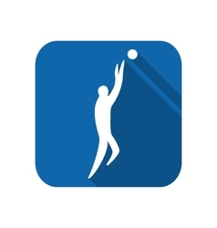 Athlete man basketball player silhouette vector image vector image