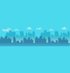 city skyline blue city vector image vector image