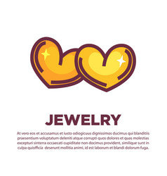 golden jewelry hearts vector image vector image