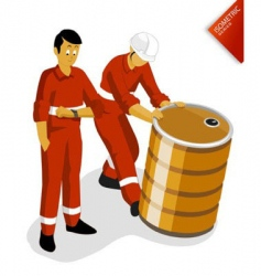 oil worker vector image