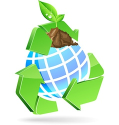 Save earth symbol vector image