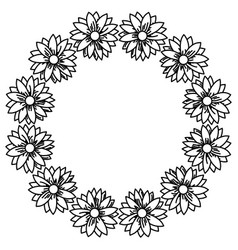 circular frame deoration floral vector image