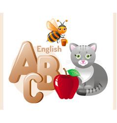 english alphabet abc icon vector image