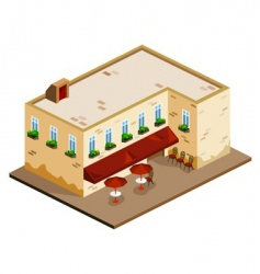 old cafe vector image vector image