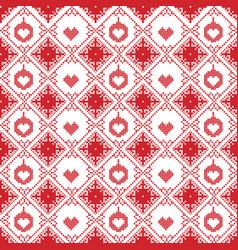 Scandinavian seamless cross stitch pattern vector