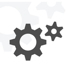 simple gear icon stock object for design vector image