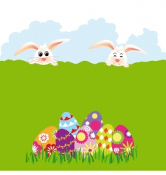 springtime easter holiday vector image vector image