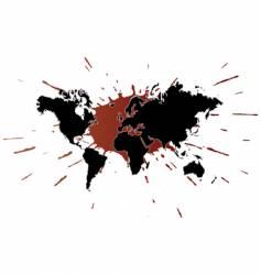 world ink design vector image vector image