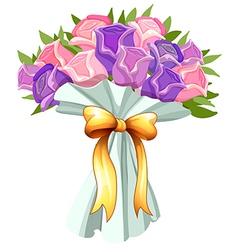 A boquet of blooming flowers vector image vector image