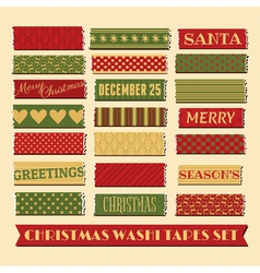 christmas washi tape strips collection vector image vector image