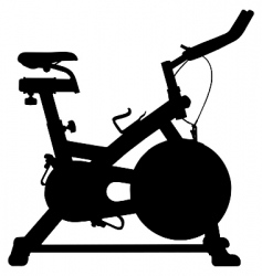 exercise bike vector image