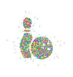 abstract bowling ball vector image