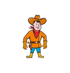 Cowboy Standing Drawing Gun Cartoon vector image