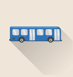 flat style bus icon vector image vector image