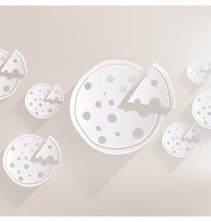 Pizza web icon vector image vector image