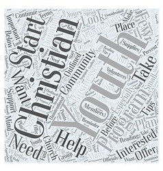 Starting your own christian youth program word vector