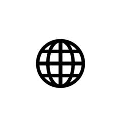 World globe icon flat vector