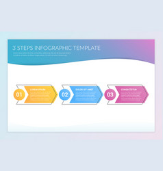3 steps infographics vector image