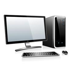 3d desktop computer vector